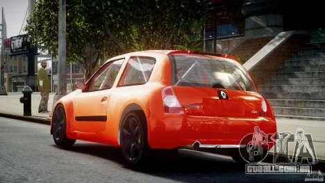 Renault Clio Sport para GTA 4 traseira esquerda vista