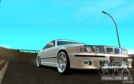 BMW M5 E34 para GTA San Andreas esquerda vista