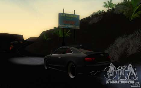 Audi S5 Black Edition para GTA San Andreas traseira esquerda vista