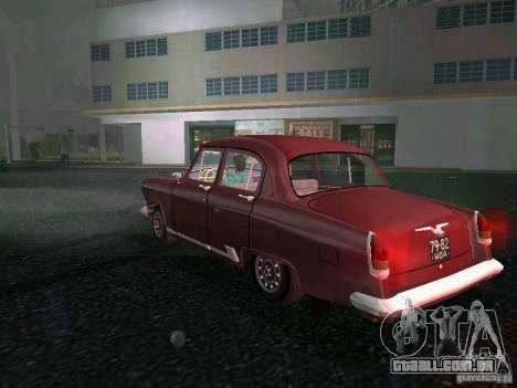 Gaz-21r 1965 para GTA Vice City vista traseira esquerda