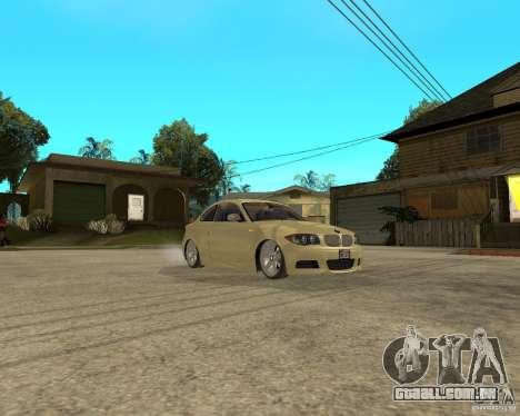 BMW 135i Coupe Stock para GTA San Andreas vista traseira