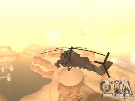 Mi-24p Desert Camo para GTA San Andreas traseira esquerda vista