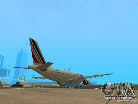Airbus A300-600 Air France para GTA San Andreas vista traseira