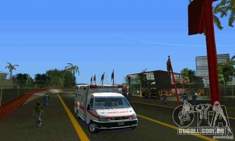 RTW Ambulance para GTA Vice City vista traseira