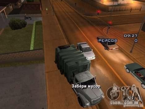 O motorista do caminhão para GTA San Andreas segunda tela