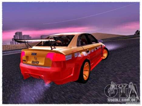 Audi RS4 Calibri-Ace para GTA San Andreas esquerda vista