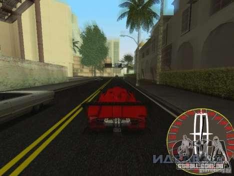 Velocímetro novo Lincoln para GTA San Andreas terceira tela