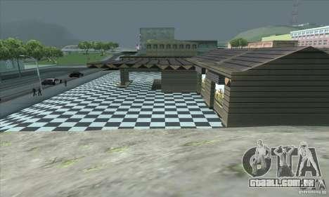 A garagem atualizada CJ em SF para GTA San Andreas por diante tela