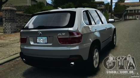 BMW X5 xDrive35d para GTA 4 traseira esquerda vista