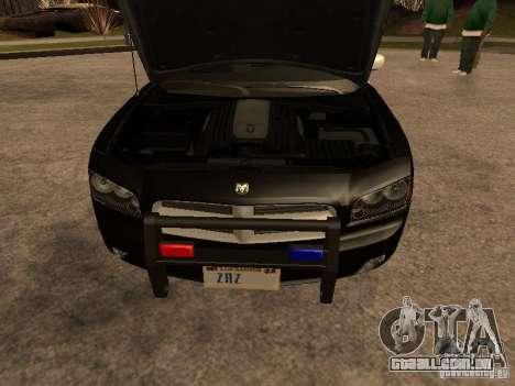 Dodge Charger RT Police para GTA San Andreas vista interior