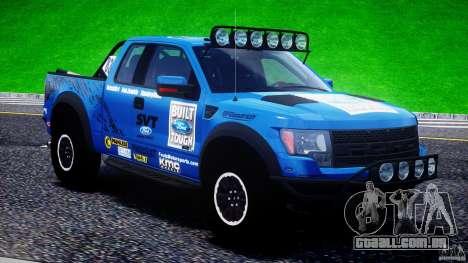 Ford F150 Racing Raptor XT 2011 para GTA 4 interior