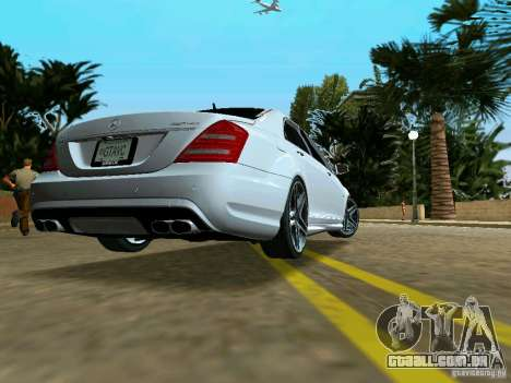 Mercedes-Benz S65 AMG 2012 para GTA Vice City deixou vista