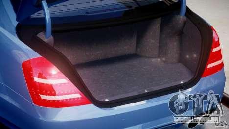 Mercedes-Benz S63 AMG [Final] para GTA 4 vista de volta