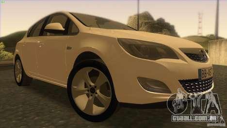 Opel Astra 2010 para GTA San Andreas vista traseira