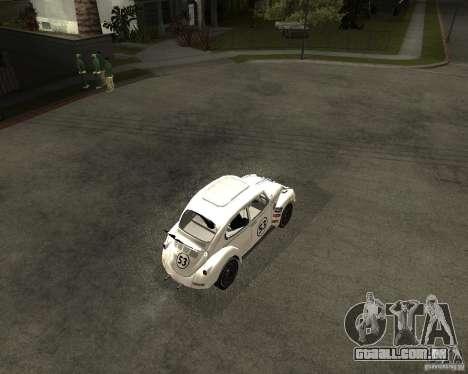 Volkswagen Beetle Herby para GTA San Andreas vista direita