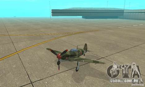 Yak-9, durante a II Guerra Mundial para GTA San Andreas