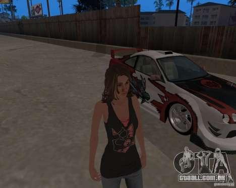 Tony Hawks Emily para GTA San Andreas por diante tela