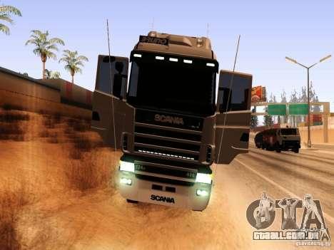 Scania 124G R400 para GTA San Andreas vista traseira