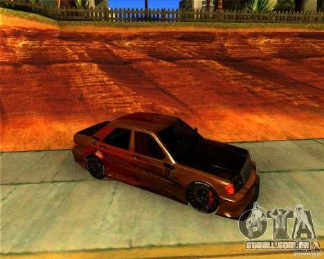 Mercedes Benz 190E - SpeedHunters Edition para GTA San Andreas esquerda vista