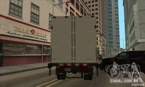 Caminhão com logotipo do YouTube para GTA San Andreas traseira esquerda vista