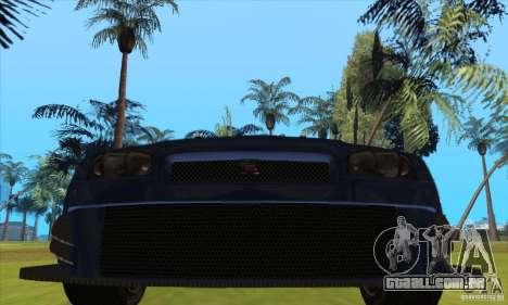 Nissan Skyline R34 GT-R LM para GTA San Andreas esquerda vista