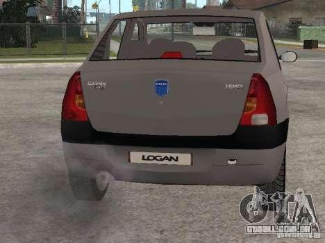 Dacia Logan 1.6 para GTA San Andreas vista traseira