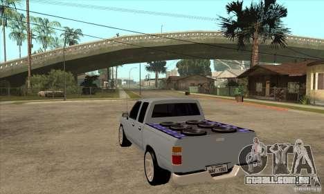 Toyota Hilux Surf v2.0 para GTA San Andreas traseira esquerda vista