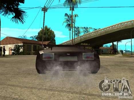 Buggati EB110 para GTA San Andreas traseira esquerda vista