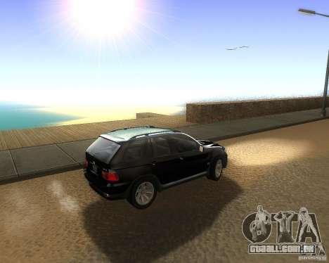 BMW X5 4.8 IS para GTA San Andreas esquerda vista