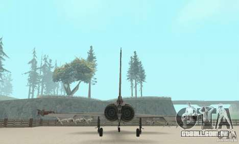 EF-2000 Typhoon V1.3 para GTA San Andreas vista superior