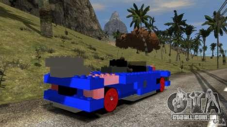 LEGOCAR para GTA 4 traseira esquerda vista