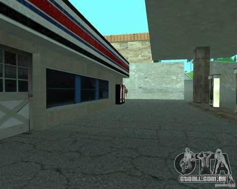 Novo Xoomer. posto de gasolina novo. para GTA San Andreas quinto tela