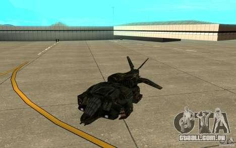 O serviço de transporte do jogo Aliens vs Predat para GTA San Andreas esquerda vista