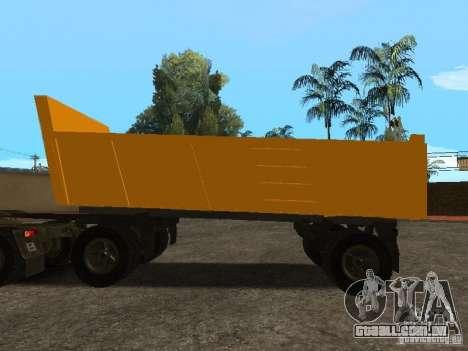 GKB 8350 Flatbed para GTA San Andreas esquerda vista
