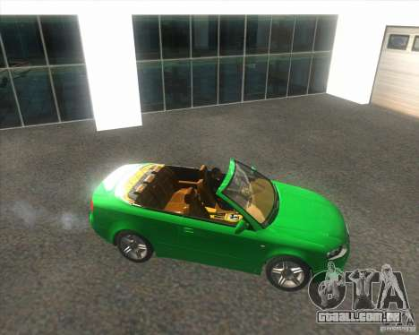 Audi A4 Convertible 2005 para GTA San Andreas vista direita
