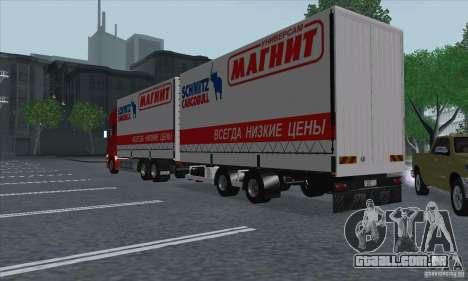Trailer de Scania R620 para GTA San Andreas vista direita