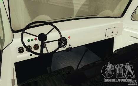 UAZ-3303 para GTA San Andreas vista traseira