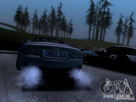 Aston Martin DB9 Volante 2006 para GTA San Andreas esquerda vista