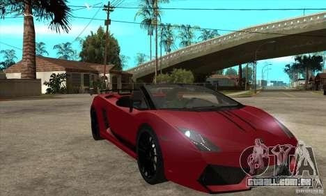 Lamborghini LP570-4 Performante 2011 para GTA San Andreas vista traseira