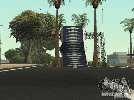 Drift track and stund map para GTA San Andreas por diante tela