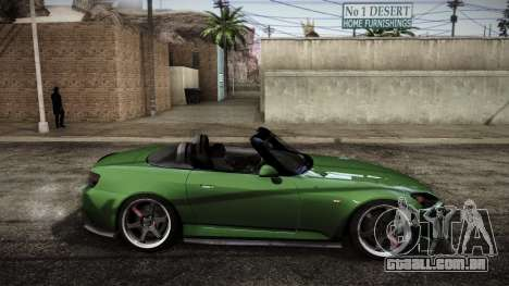 Honda S2000 HellaFlush para GTA San Andreas traseira esquerda vista