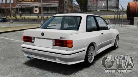 BMW M3 E30 v2.0 para GTA 4 traseira esquerda vista