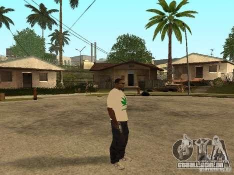 T-shirt com grama para GTA San Andreas terceira tela