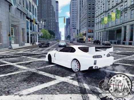 Toyota Supra Drift Setting para GTA 4 traseira esquerda vista