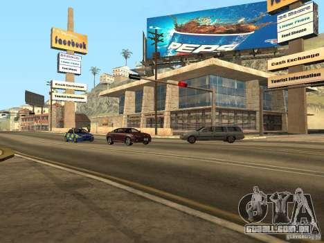 Nova rua Mullholland-novo Mulholland para GTA San Andreas quinto tela