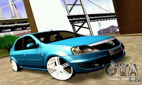 Dacia Logan 2008 para GTA San Andreas vista interior