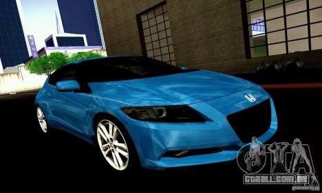 Honda CR-Z 2010 V2.0 para GTA San Andreas vista direita