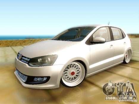 Volkswagen Polo 6R TSI Edit para GTA San Andreas traseira esquerda vista