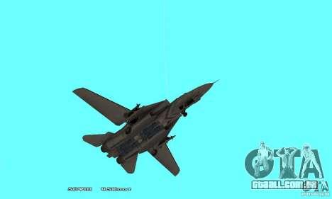 F14W Super Weirdest Tomcat Skin 1 para GTA San Andreas vista superior
