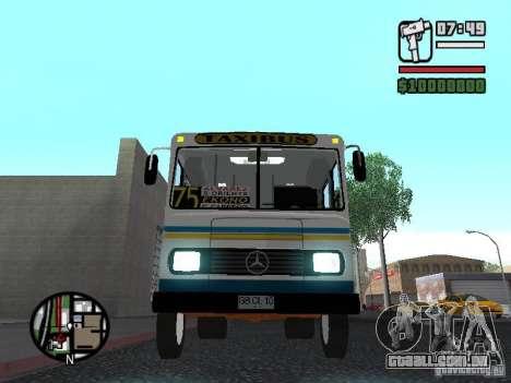 Cuatro Ases M.Benz LO608D para GTA San Andreas vista superior